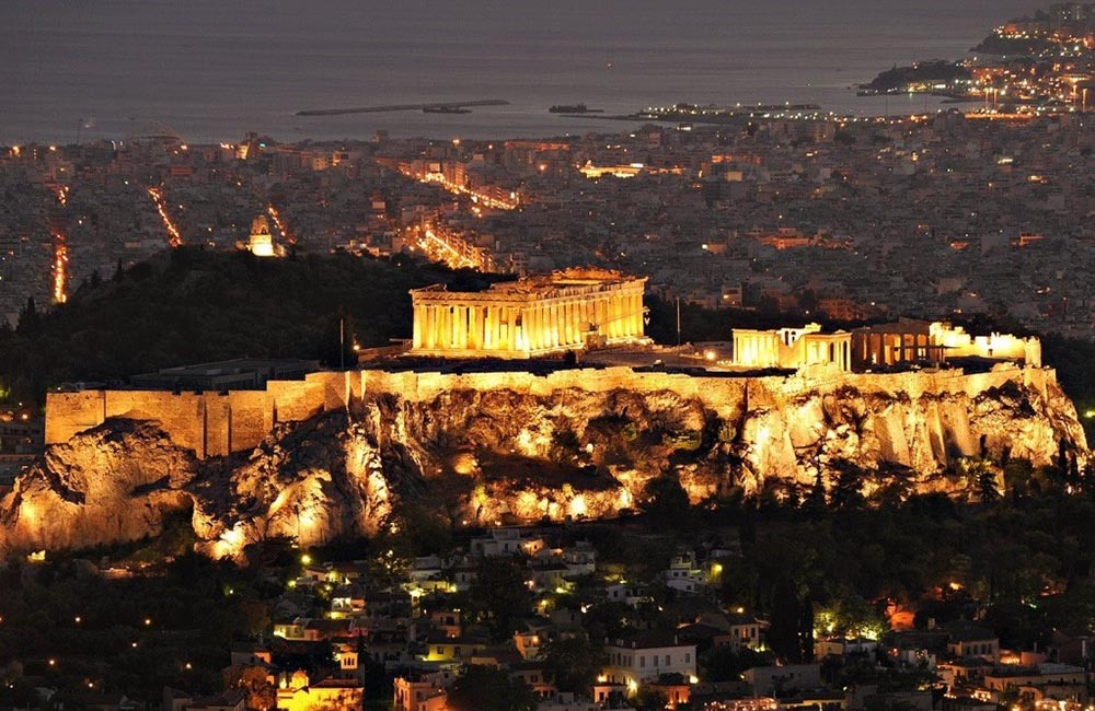 Parthenon-At-Night