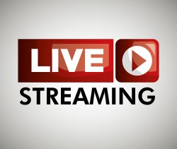 button icon live streaming design graphic vector illustration eps 10